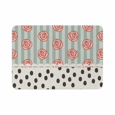 Pellerina Design Mismatch Romantic Polkadot Floral Memory Foam Bath Rug Size: 0.5 H x 24 W x 36 D