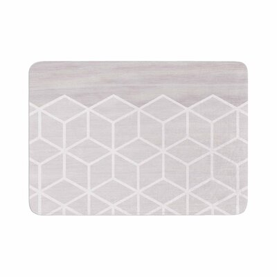 Draper Geo Woodgrain Memory Foam Bath Rug Size: 0.5 H x 17 W x 24 D