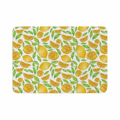 Alisa Drukman Lemons Floral Memory Foam Bath Rug Size: 0.5 H x 24 W x 36 D