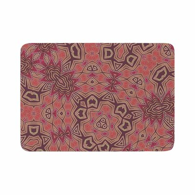 Alison Coxon Tribal Fire Digital Memory Foam Bath Rug Size: 0.5 H x 24 W x 36 D