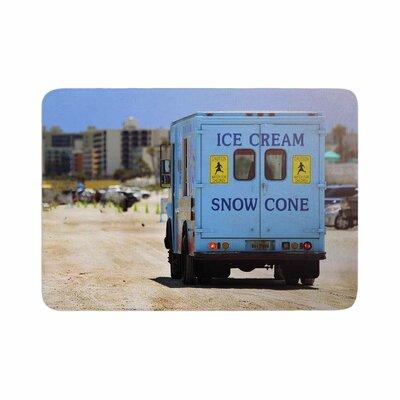 Angie Turner Ice Cream Truck Memory Foam Bath Rug Size: 0.5 H x 24 W x 36 D