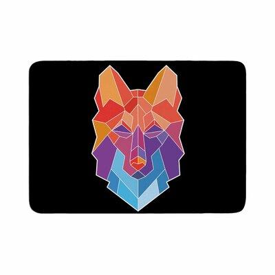 Draper Prism Wolf Memory Foam Bath Rug Size: 0.5 H x 17 W x 24 D