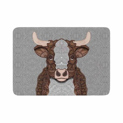Art Love Passion Gustaf the Bull Memory Foam Bath Rug Size: 0.5 H x 17 W x 24 D