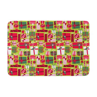 Allison Beilke Prezzies Holiday Memory Foam Bath Rug Size: 0.5 H x 24 W x 36 D