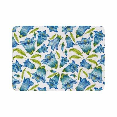 Alisa Drukman Campanula Floral Memory Foam Bath Rug Size: 0.5 H x 17 W x 24 D