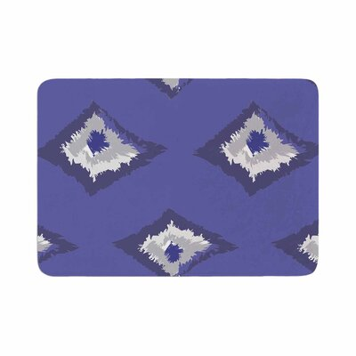 Alison Coxon Denim Ikat Memory Foam Bath Rug Size: 0.5 H x 17 W x 24 D