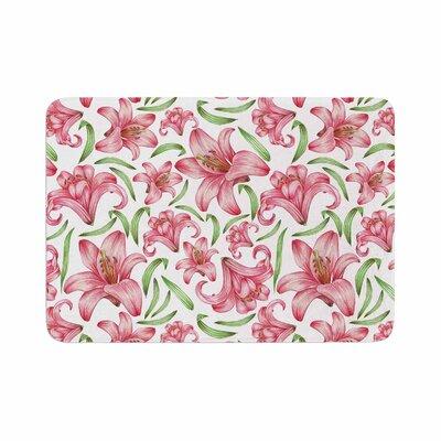 Alisa Drukman Lily Flowers Memory Foam Bath Rug Size: 0.5