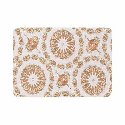 Alison Coxon Citrine Mandala Tile Digital Memory Foam Bath Rug Size: 0.5 H x 24 W x 36 D