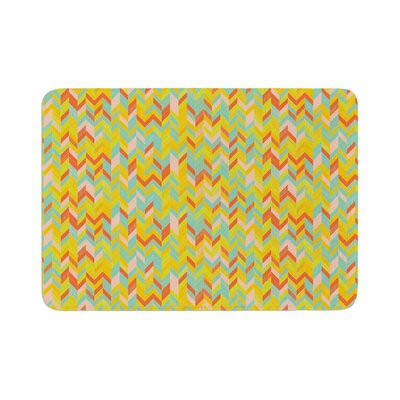 Allison Soupcoff Chevron Pop Pattern Memory Foam Bath Rug Size: 0.5 H x 17 W x 24 D