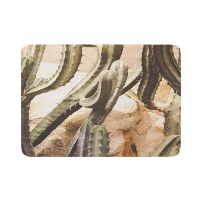 Ann Barnes Cactus Jungle Memory Foam Bath Rug Size: 0.5 H x 24 W x 36 D