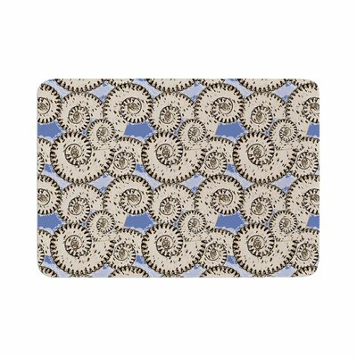 Mydeas Nautical Breeze Spiral Seashells Vector Memory Foam Bath Rug Size: 0.5 H x 24 W x 36 D