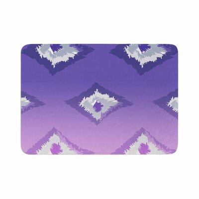 Alison Coxon Ombre Ikat Memory Foam Bath Rug Size: 0.5 H x 24 W x 36 D, Color: Purple