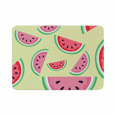 Afe Images Watermelon Background Food Memory Foam Bath Rug Size: 0.5 H x 24 W x 36 D