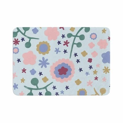 Alik Arzoumanian Morning Flowers Memory Foam Bath Rug Size: 0.5 H x 17 W x 24 D