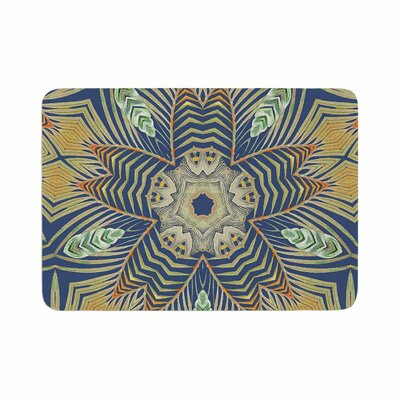 Alison Coxon Kintenge Deep Memory Foam Bath Rug Size: 0.5 H x 17 W x 24 D, Color: Blue/Orange