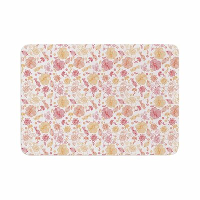 Alisa Drukman Summer Line Illustration Memory Foam Bath Rug Size: 0.5