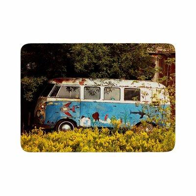 Angie Turner Hippie Bus Memory Foam Bath Rug Size: 0.5 H x 17 W x 24 D