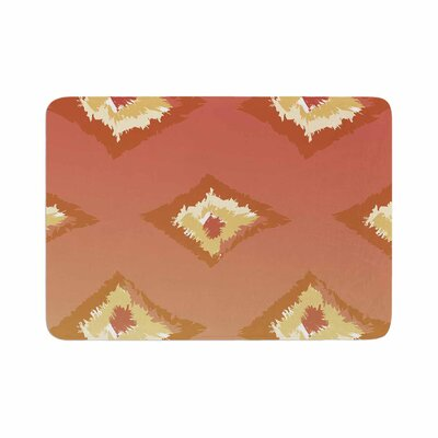 Alison Coxon Ombre Ikat Memory Foam Bath Rug Size: 0.5 H x 24 W x 36 D, Color: Coral