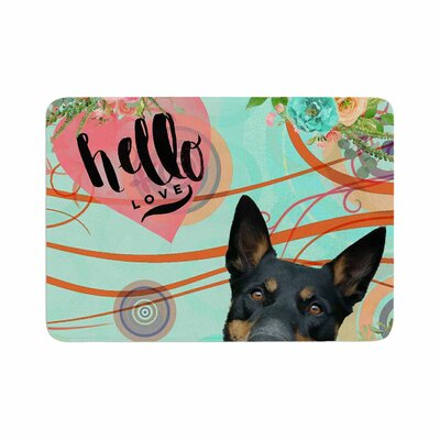 AlyZen Moonshadow Hello Love Memory Foam Bath Rug Size: 0.5 H x 17 W x 24 D