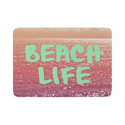 Alison Coxon Beach Life Coastal Memory Foam Bath Rug Size: 0.5