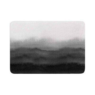 Draper Ombre Ink Wash Memory Foam Bath Rug Size: 0.5 H x 17 W x 24 D