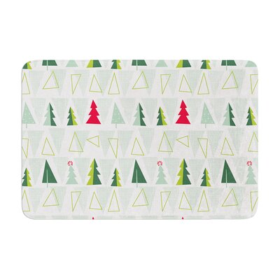 Allison Beilke Pining for Christmas Holiday Memory Foam Bath Rug Size: 0.5 H x 24 W x 36 D
