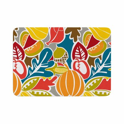 Agnes Schugardt Fall Harvest Food Memory Foam Bath Rug Size: 0.5 H x 24 W x 36 D