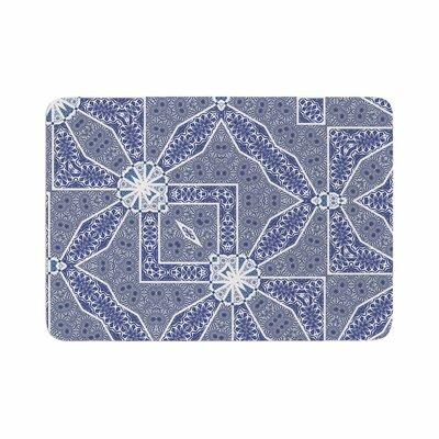 Alison Coxon Santorini Tile Digital Memory Foam Bath Rug Size: 0.5 H x 24 W x 36 D