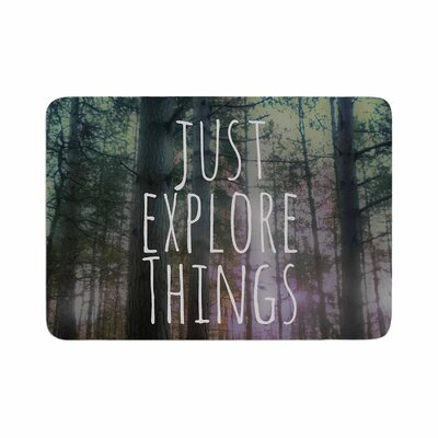 Alison Coxon Just Explore Things Photography Memory Foam Bath Rug Size: 0.5 H x 24 W x 36 D