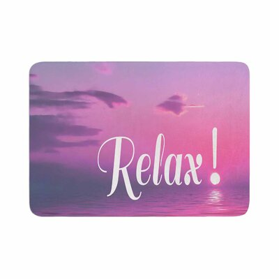 Alison Coxon Relax Typography Memory Foam Bath Rug Size: 0.5