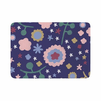 Alik Arzoumanian Night Floral Memory Foam Bath Rug Size: 0.5 H x 17 W x 24 D