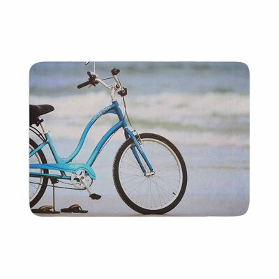 Angie Turner Beach Bike Memory Foam Bath Rug Size: 0.5 H x 17 W x 24 D