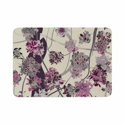 Angelo Cerantola Springtime Again Floral Memory Foam Bath Rug Size: 0.5 H x 24 W x 36 D