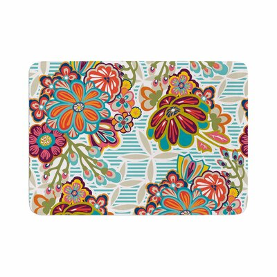 Agnes Schugardt Kimono Floral Pattern Memory Foam Bath Rug Size: 0.5 H x 24 W x 36 D