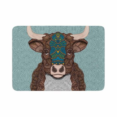 Art Love Passion Bennie the Bull Memory Foam Bath Rug Size: 0.5 H x 17 W x 24 D