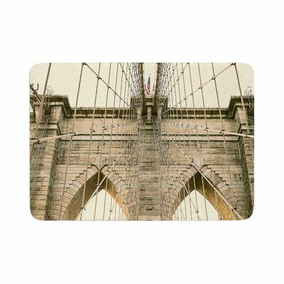 Ann Barnes Brooklyn Bridge Sunset Photography Memory Foam Bath Rug Size: 0.5 H x 24 W x 36 D