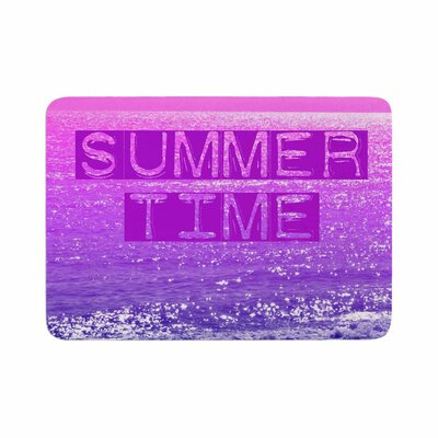 Alison Coxon Summer Time Typography Memory Foam Bath Rug Size: 0.5 H x 24 W x 36 D