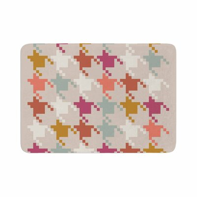 Pellerina Design Houndstooth Panel Digital Memory Foam Bath Rug Size: 0.5 H x 24 W x 36 D