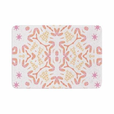 Alison Coxon Aztec Feather Memory Foam Bath Rug Size: 0.5 H x 24 W x 36 D