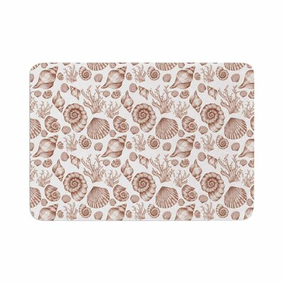 Alisa Drukman Seashells Memory Foam Bath Rug Size: 0.5 H x 17 W x 24 D