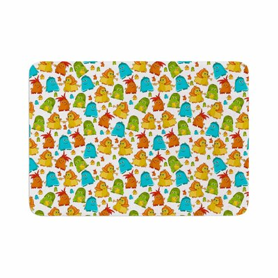 Alisa Drukman Good Monsters Kids Memory Foam Bath Rug Size: 0.5 H x 17 W x 24 D