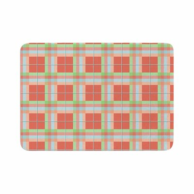 Afe Images Summer Plaid Pattern Memory Foam Bath Rug Size: 0.5