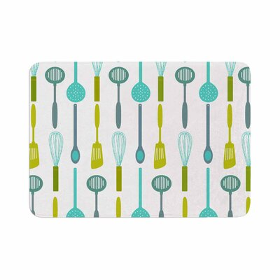 Afe Images Kitchen Utensils Illustration Memory Foam Bath Rug Size: 0.5