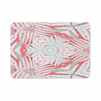 Alison Coxon Planthouse Raspberry Memory Foam Bath Rug Size: 0.5 H x 17 W x 24 D, Color: Coral