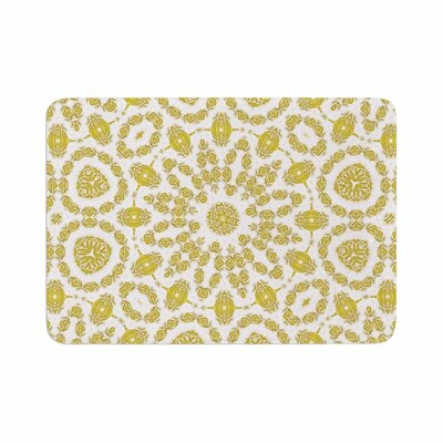 Alison Coxon Flaxen Mandala Digital Memory Foam Bath Rug Size: 0.5 H x 17 W x 24 D