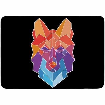 Draper Prism Wolf Memory Foam Bath Rug