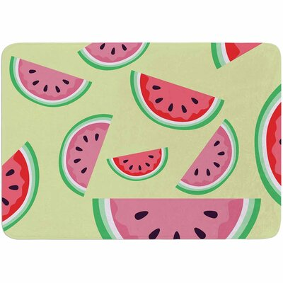 Afe Images Watermelon Background Memory Foam Bath Rug