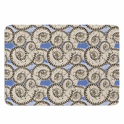 Mydeas Nautical Breeze - Spiral Seashells Memory Foam Bath Rug