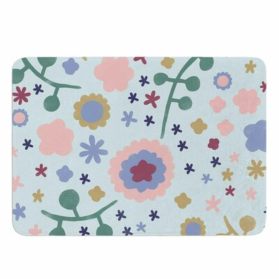 Alik Arzoumanian Morning Flowers Memory Foam Bath Rug