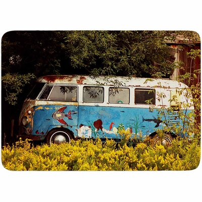 Angie Turner Hippie Bus Memory Foam Bath Rug